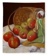 Apple Annie Fleece Blanket