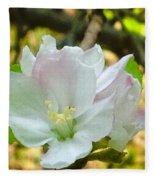 Apple Blossom Close-up Fleece Blanket