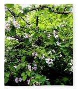Apple Blossom Digital Painting Fleece Blanket