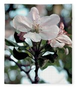 Apple Blossom Time Fleece Blanket