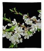 Apple Blossoms 2 Fleece Blanket
