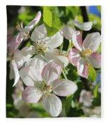 Apple Blossoms Square Fleece Blanket