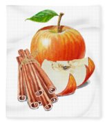 Apple Cinnamon Fleece Blanket