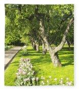 Apple Garden Fleece Blanket