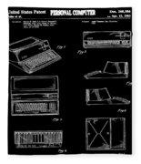 Apple Macintosh Patent 1983 Black Fleece Blanket