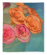 Apple Roses Fleece Blanket