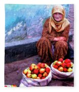 Apple Seller Fleece Blanket