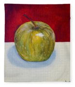 Apple Study Fleece Blanket