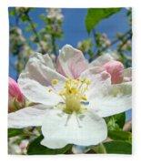 Apple Tree Blossom Art Prints Springtime Nature Baslee Troutman Fleece Blanket