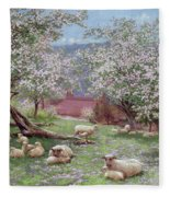 Appleblossom Fleece Blanket