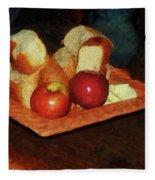 Apples And Bread Fleece Blanket