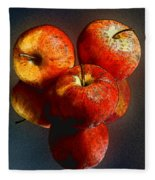 Apples And Mirrors Fleece Blanket