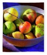 Apples And Pears Fleece Blanket