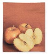 Apples In Autumn Fleece Blanket
