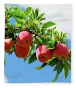 Apples On A Branch Fleece Blanket