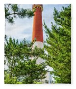 Approach To Barnegat Light Fleece Blanket