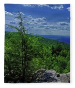 Approaching Little Gap On The Appalachian Trail In Pa Fleece Blanket