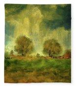 Approaching Storm At Antietam Fleece Blanket