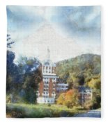 Approaching The Homestead Fleece Blanket