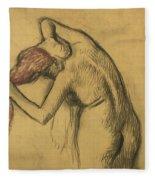 Apres Le Bain Femme S'essuyant Fleece Blanket