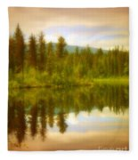 Apricot Reflections Fleece Blanket