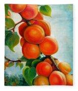 Apricots In The Garden Fleece Blanket