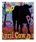 April Cow Day Fleece Blanket