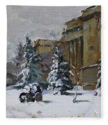 April Snow By The Nacc Fleece Blanket