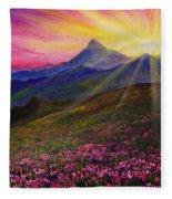 April Sunset Fleece Blanket