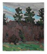 April White Pine Forest Fleece Blanket