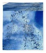 Aqua Art Cube Fleece Blanket