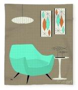 Aqua Chair Fleece Blanket