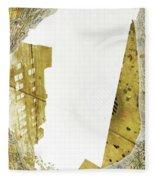 Aqua Metallic Series Together Apart Fleece Blanket