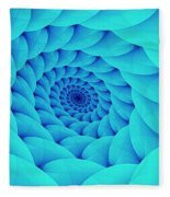 Aqua Pillow Vortex Fleece Blanket