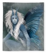 Aqua The Forest Fairy2 Fleece Blanket