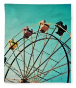 Aquamarine Dream - Ferris Wheel Art Fleece Blanket
