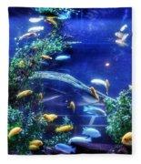 Aquarium Fish Fleece Blanket