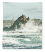 Aquatic Spray Fleece Blanket