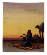 Arab At Prayer Fleece Blanket