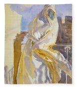 Arab Woman Fleece Blanket