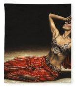Arabian Coffee Awakes Fleece Blanket