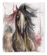 Arabian Horse 2013 10 15 Fleece Blanket
