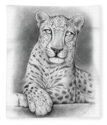Arabian Leopard Fleece Blanket