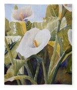 Aram Lillies Fleece Blanket