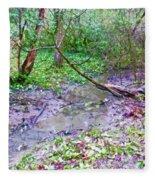 Arboretum Creek Painted Fleece Blanket