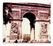 Arc De Triomphe 1955 Fleece Blanket