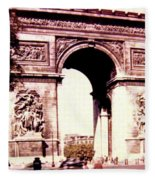 Arc De Triomphe 1955 Fleece Blanket