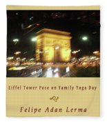 Arc De Triomphe By Bus Tour Cover Art Fleece Blanket