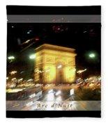 Arc De Triomphe By Bus Tour Greeting Card Poster V1 Fleece Blanket