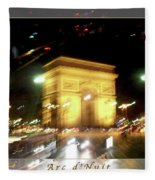Arc De Triomphe By Bus Tour Greeting Card Poster V2 Fleece Blanket